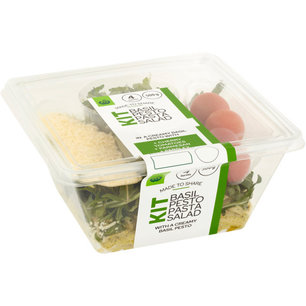 Woolworths Basil Pesto Pasta Salad Kit 500g Bunch