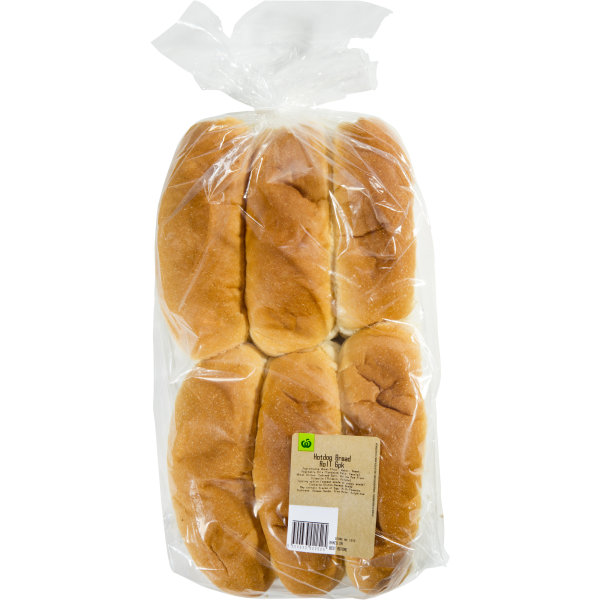 Woolworths Bread Rolls Hotdog Extra Soft 6 Pack Bunch