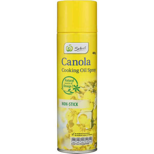 Woolworths Select Canola Cooking Spray 400g | bunch