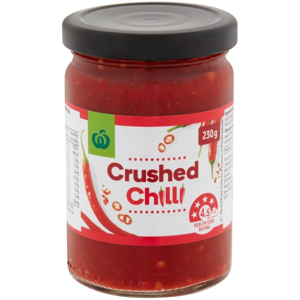 Woolworths Crushed Chilli 230g Bunch
