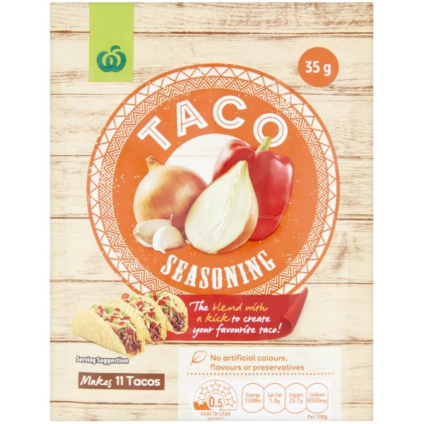 Woolworths Taco Seasoning Mix 35g Bunch